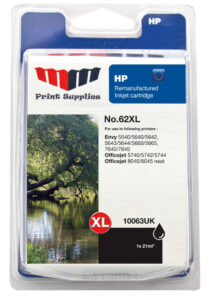 Black Inkjet Cartridge No.62XL (C2P05AE)