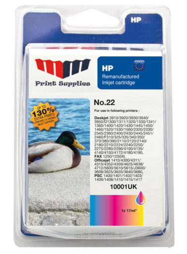 Color Inkjet Cartridge No.22 HC (C9352AE)